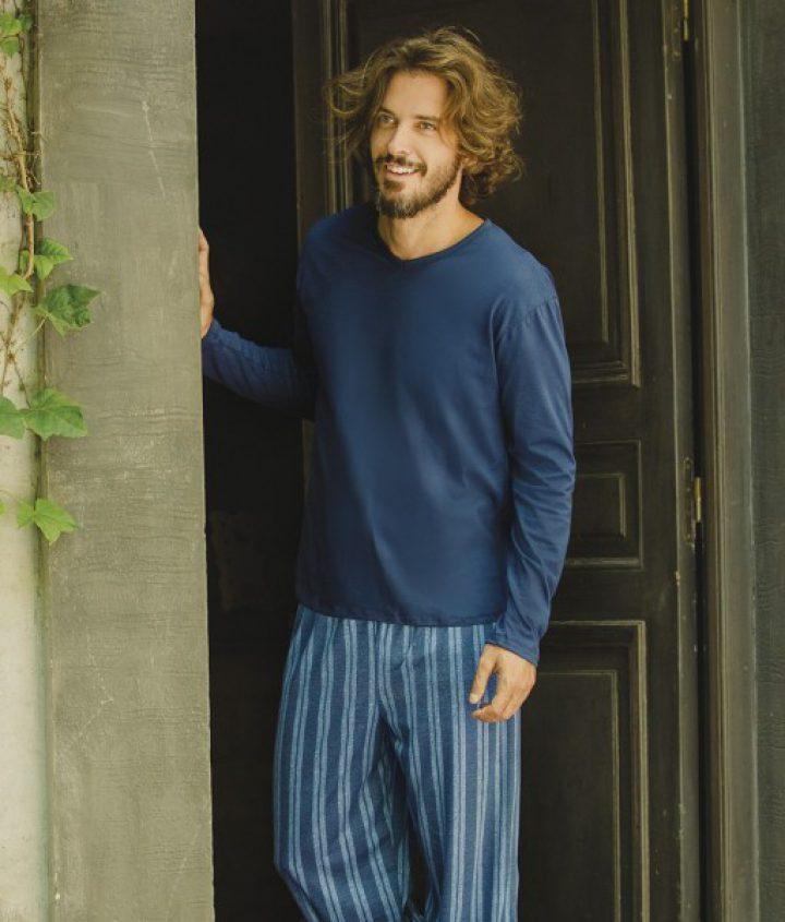 Pijama pantalón rayado