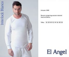 Camiseta interlock m/l El Angel 5400
