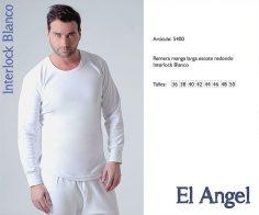 Camiseta interlock m/l El Angel 5400